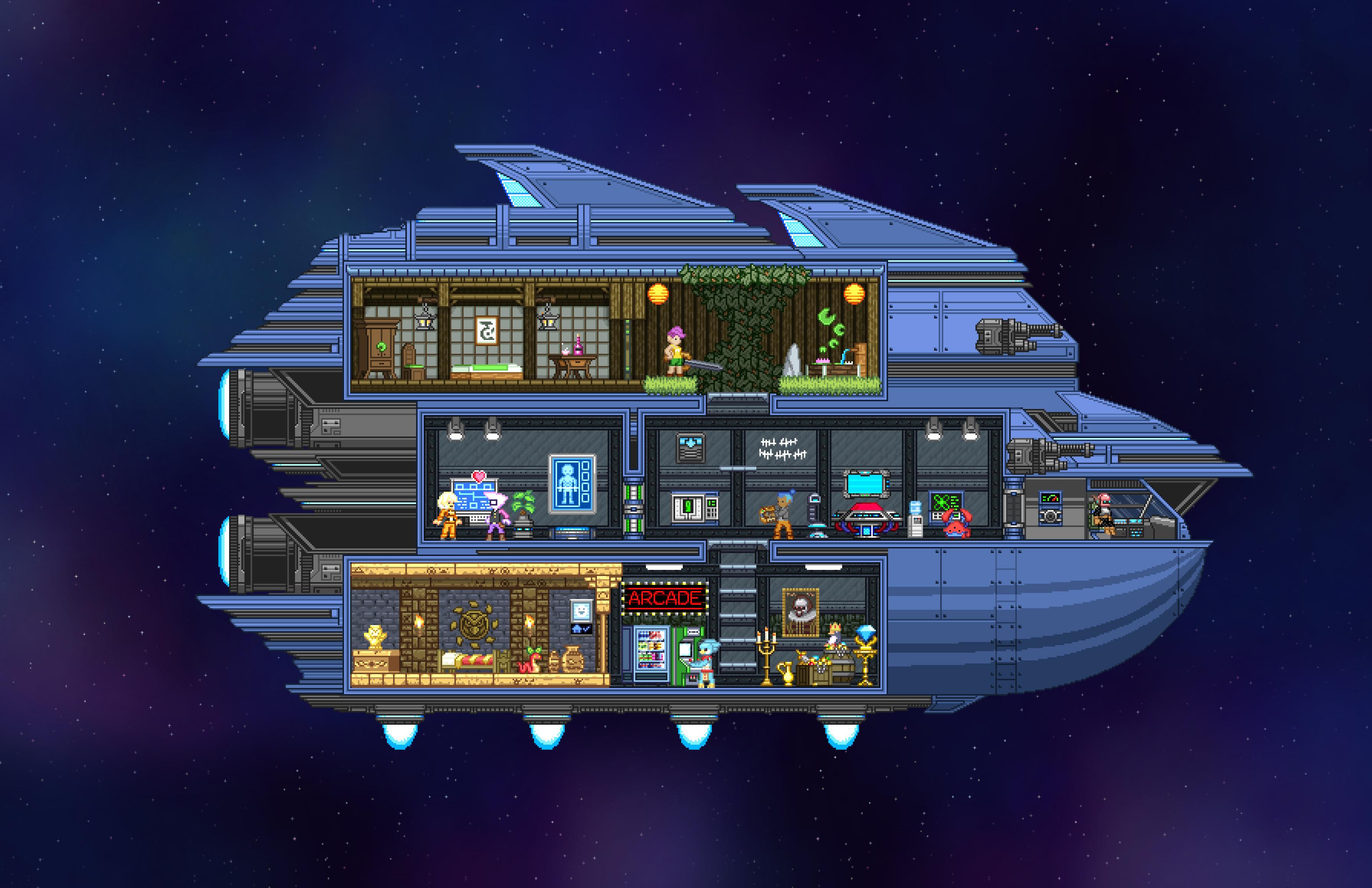 Starbound Plattformen