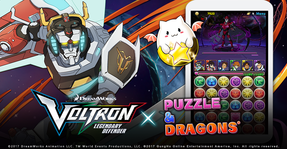 Voltron Legendary Defender Comes To Puzzles Dragons Monstervine